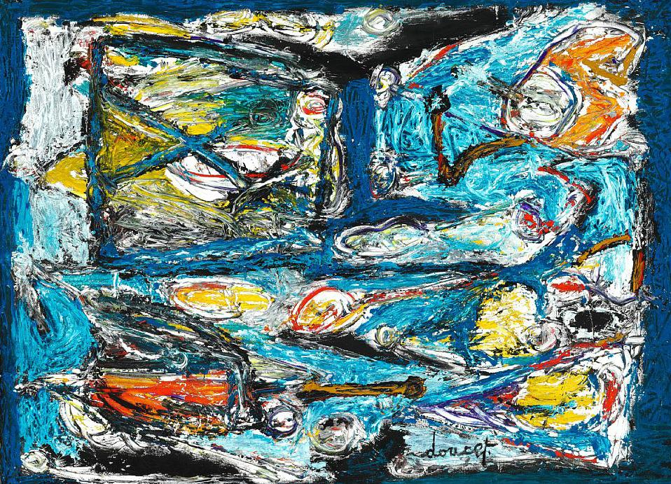 CoBrA artist: Jacques Doucet - Terre de Mer
